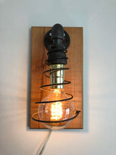 Load image into Gallery viewer, Industrial Pipe Wall Lamp with Edison Bulb and Mattress Spring