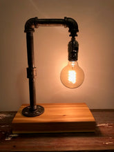 Load image into Gallery viewer, Industrial Pipe Lamp with 25 Watt Edison Bulb