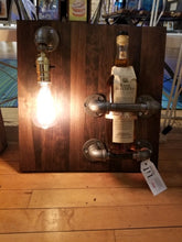 Load image into Gallery viewer, Wine Rack with Edison Light Bulb