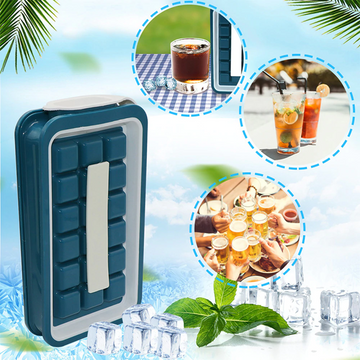 Kitchen 36 Grids Ice Cube Maker Kettle Portable Cooler Ice Cube Bag Storage Container