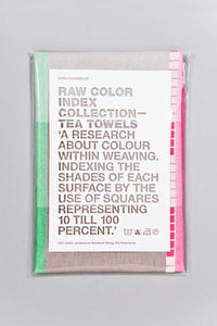 Index Collection – Tea Towel – Green Multitone