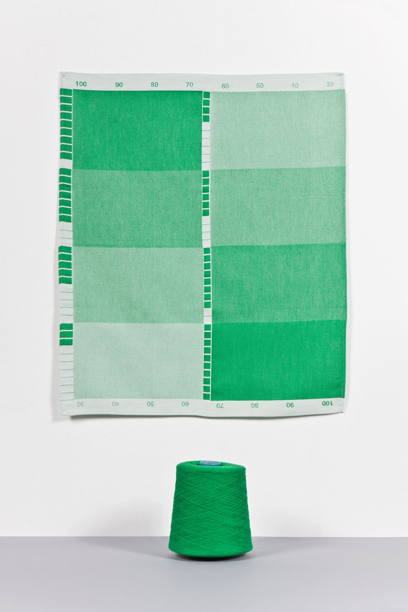 Index Collection – Tea Towel – Green Monotone