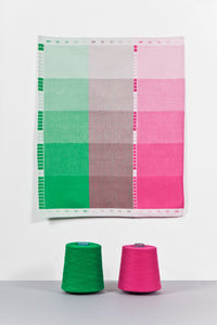 Index Collection – Tea Towel – Green Duotone