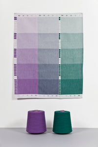 Index Collection – Tea Towel – Purple Duotone