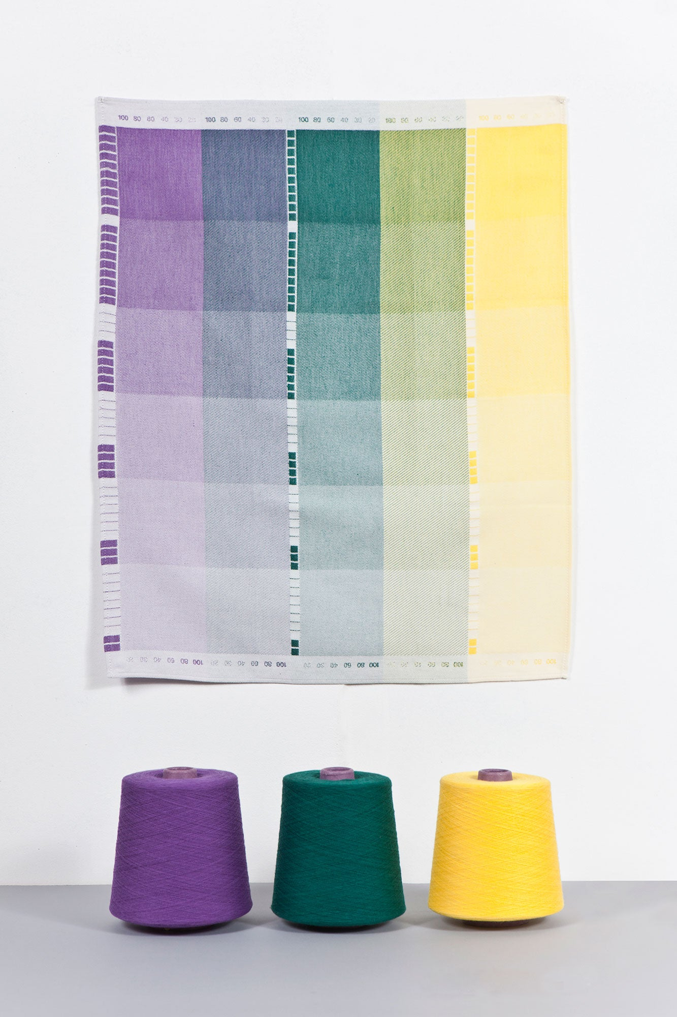 Index Collection – Tea Towel – Purple Multitone