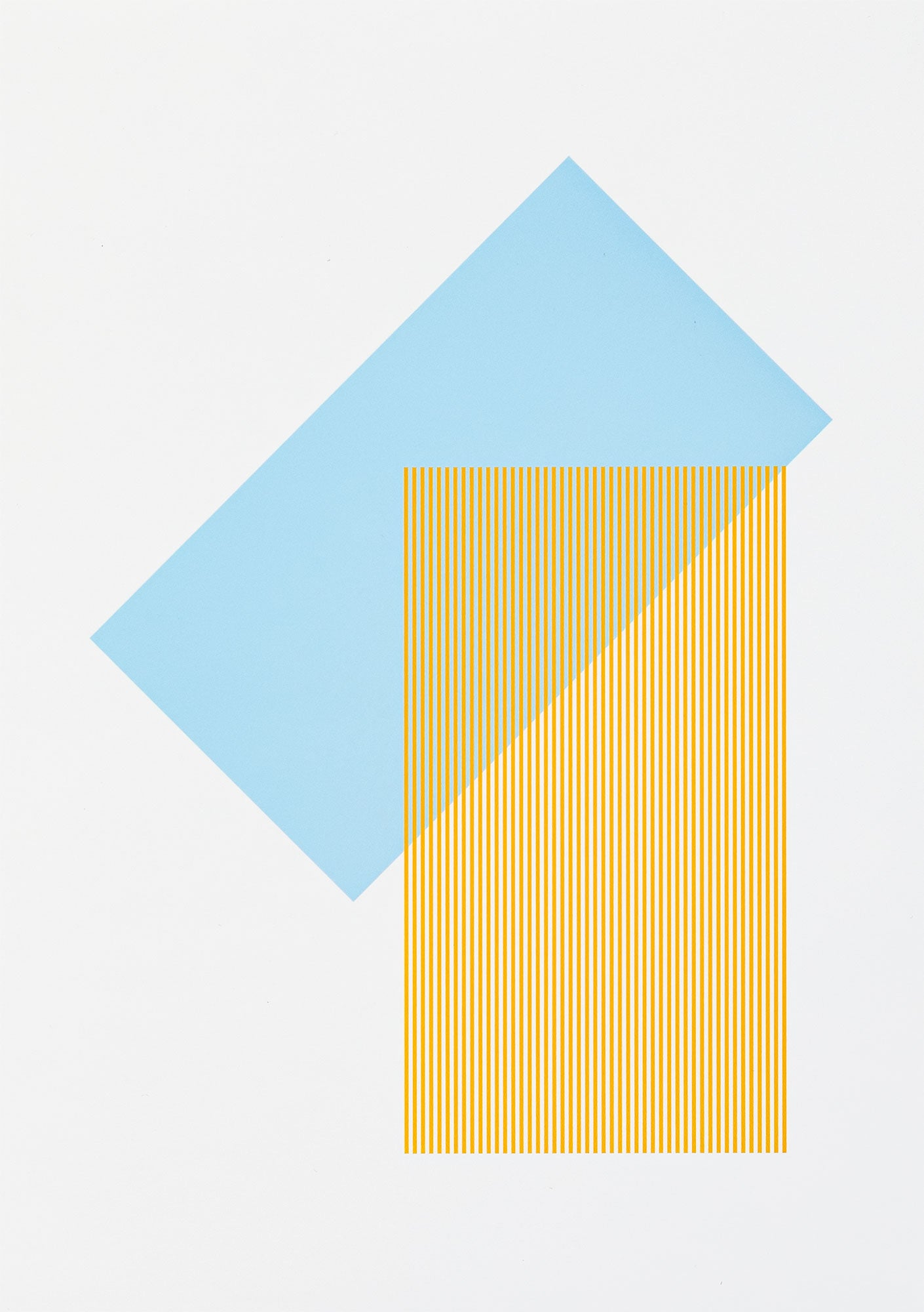 Solids & Strokes – Small – Light Blue & Yellow