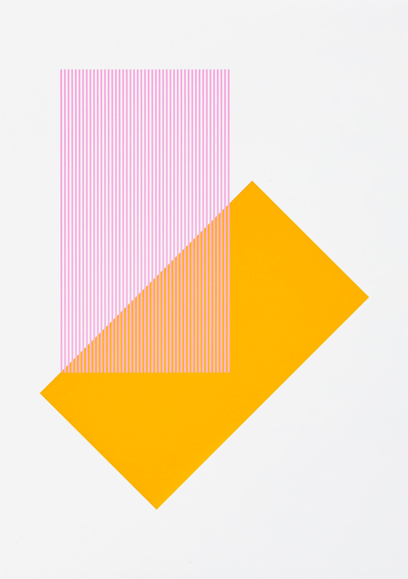 Solids & Strokes – Small – Yellow & Bright Pink