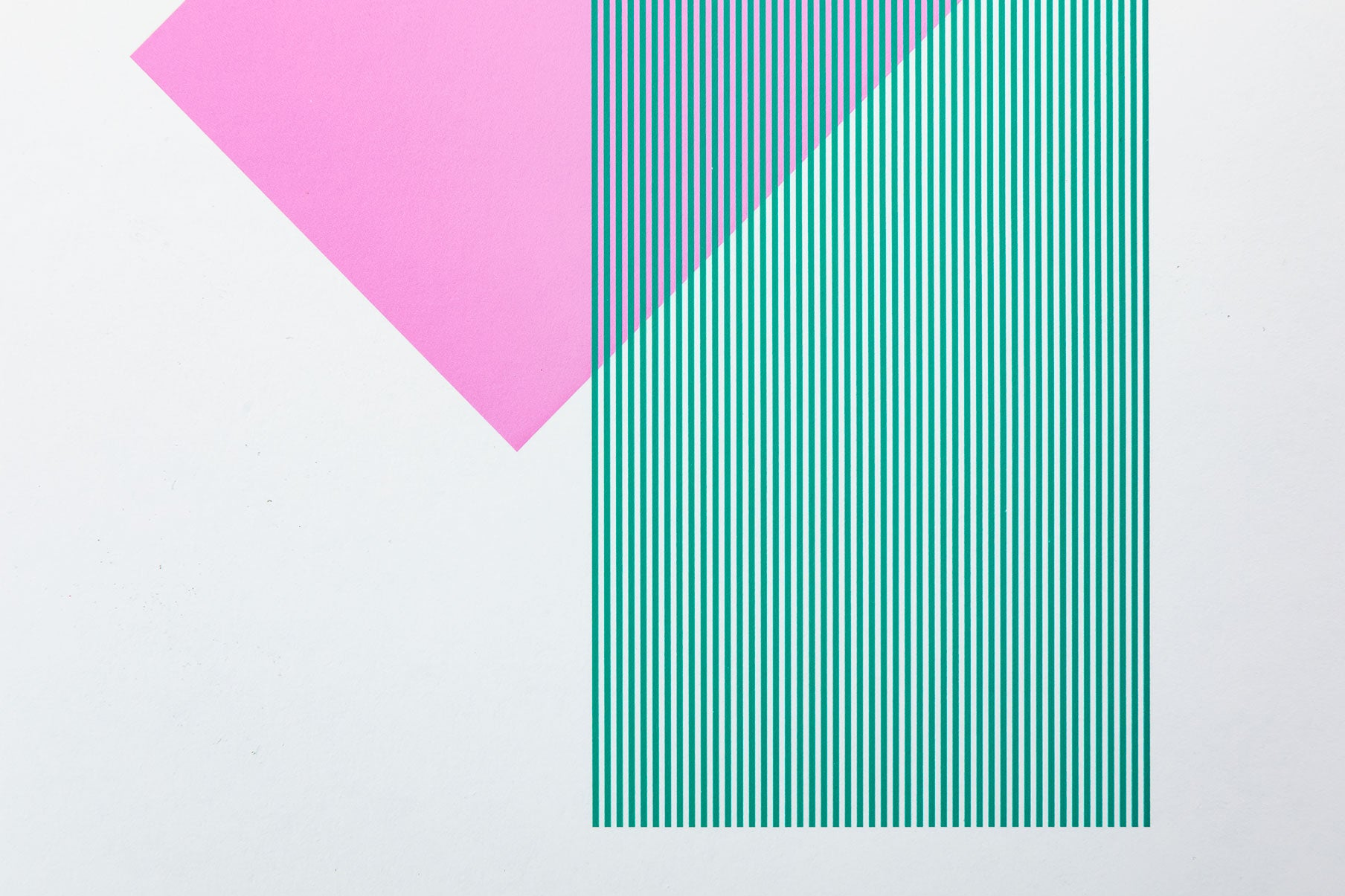 Solids & Strokes – Small – Bright Pink & Teal