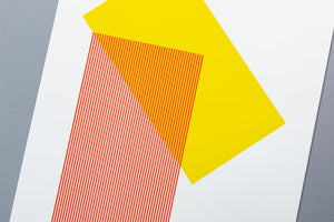 Solids & Strokes – Small – Yellow & Red