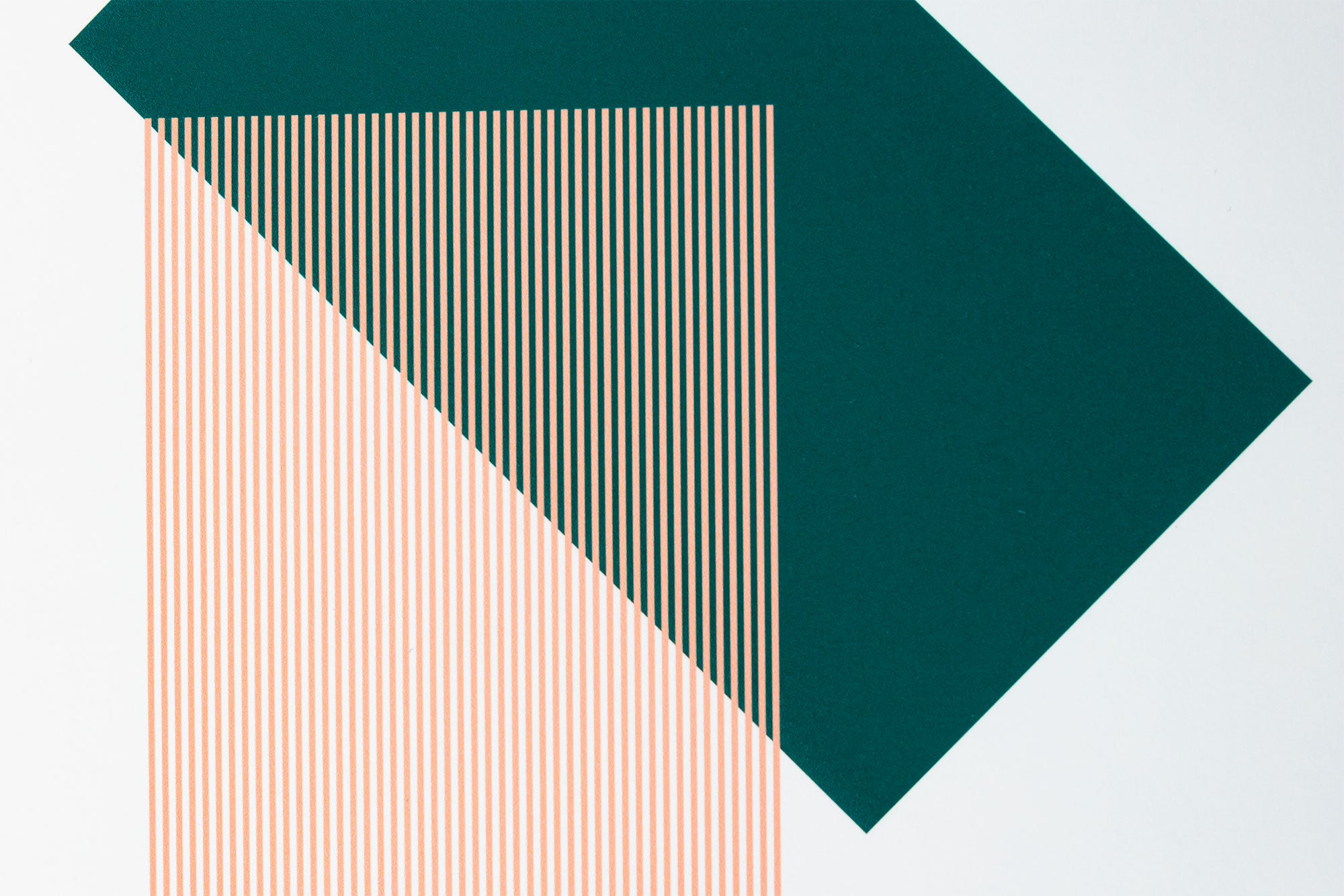 Solids & Strokes – Small – Dark Green & Warm Pink