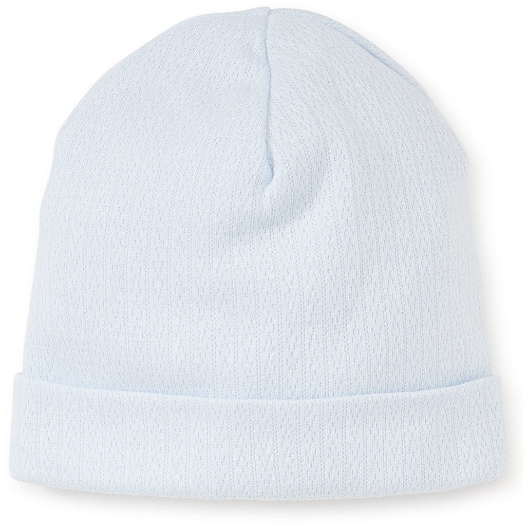 Pointelle Blue Hat
