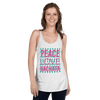 PEACE LOVE BACHATA / Racerback Tank-Top