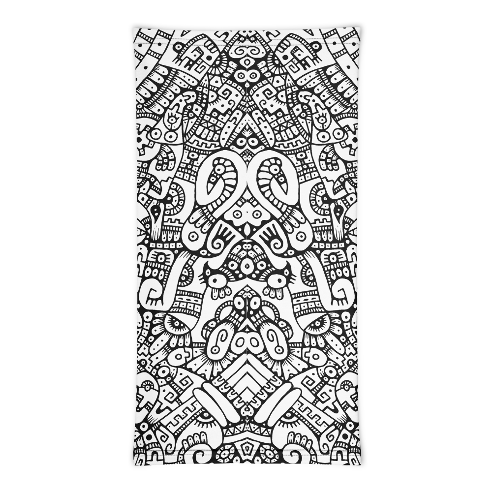 CARIBBEAN PREHISPANIC / Multifunctional Cloth all-over Print