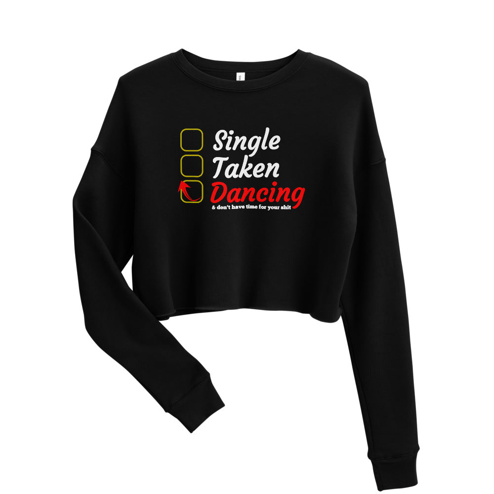 SINGLE TAKEN DANCING / Crop Sweatshirt