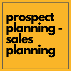 Prospect planning sales training