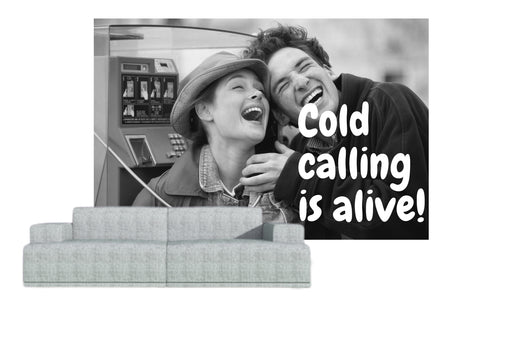 "Naadloos behang ""cold calling alive"" - salesstyle"