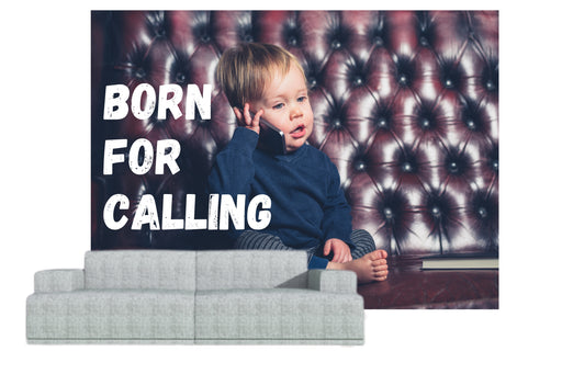 "Naadloos behang ""born for calling"" - salesstyle"