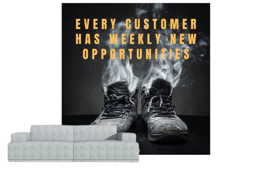 "Naadloos behang ""every customer has weekly upportunities"" - salesstyle"
