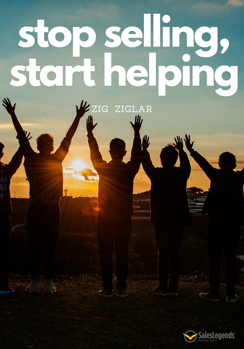 "Poster ""Stop selling, start helping"" - Sales Legends bv"