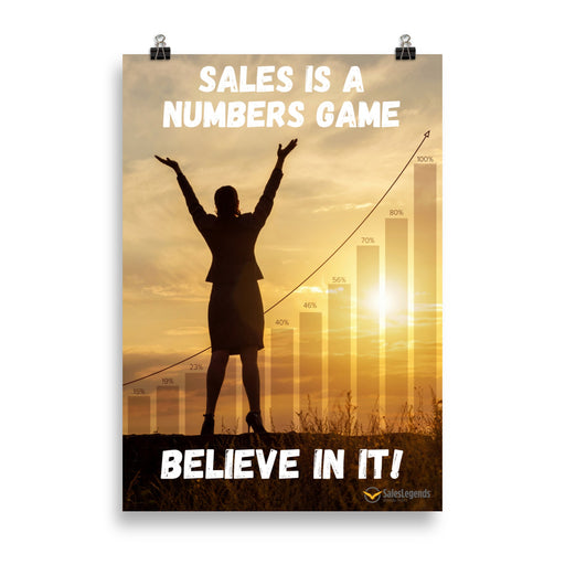"Poster ""Sales is a numbers game"" - Sales Legends bv"