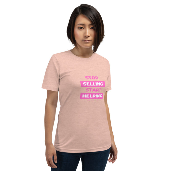 "T-Shirt ""stop selling, start helping"" - Sales Legends bv"