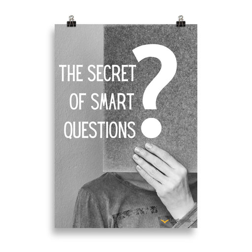 "Poster ""The secret of smart questions"" - salesstyle"