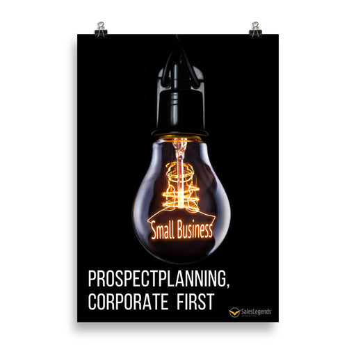 "Poster ""Prospectplanning, corporate first"" - salesstyle"