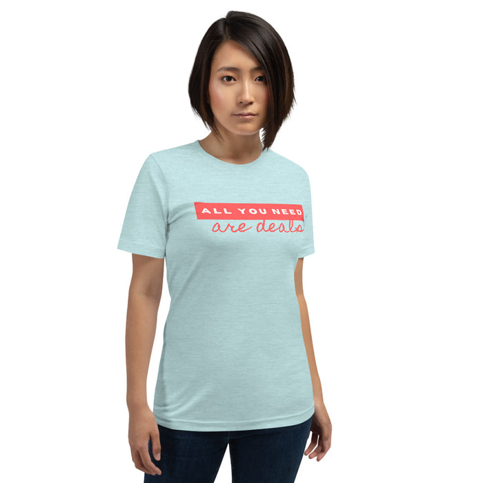 "T-Shirt dames ""All you need are deals"" - salesstyle"