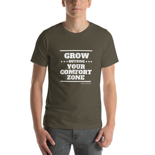 "T-Shirt ""grow outside your comfort zone"" - salesstyle"