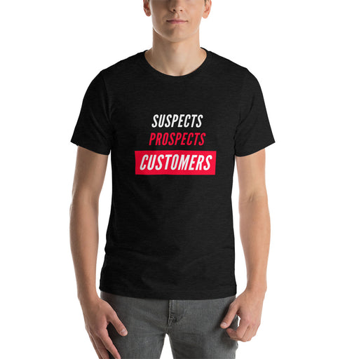 "T-Shirt ""suspect, prospect, customer"" - salesstyle"