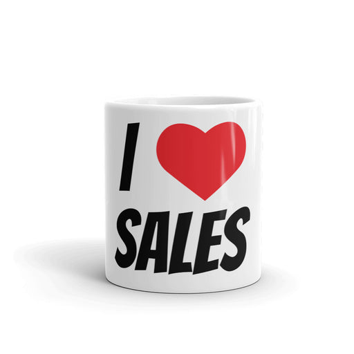 "De motivatie mok ""I love sales"" - salesstyle"