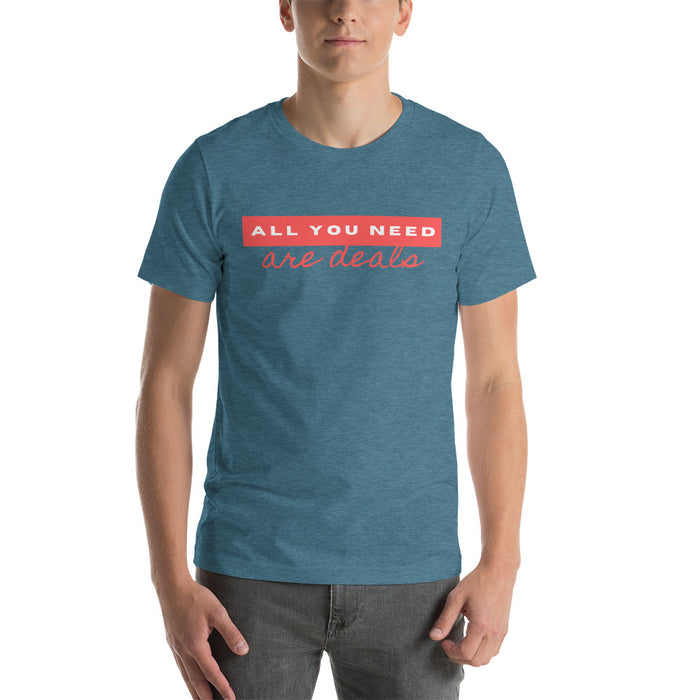 "T-Shirt ""all you need are deals"" - salesstyle"