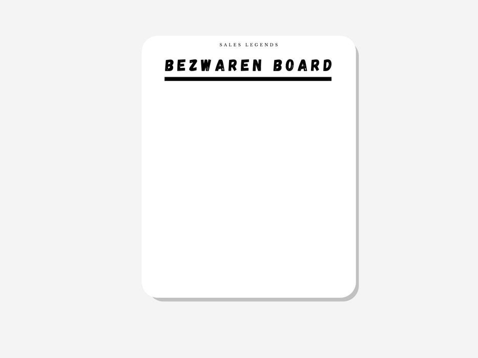 "Whiteboard sticker ""bezwaren board"" - salesstyle"
