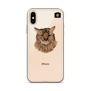 """SPARKLES"" (iPhone Case-Brown Cat)"