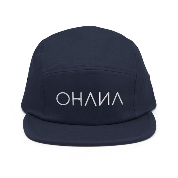 OHANA Triathlon Cap for chill. Five Panel model with OHANA logo on the front. Color blue.