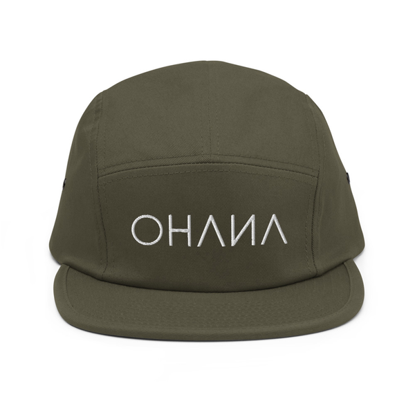 OHANA Triathlon Cap for chill. Five Panel model with OHANA logo on the front. Color green.
