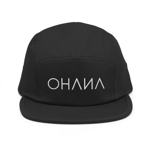 OHANA Triathlon Cap for chill. Five Panel model with OHANA logo on the front. Color black.