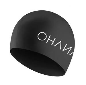 OHANA Triathlon Swim Cap in Black color with OHANA Logo