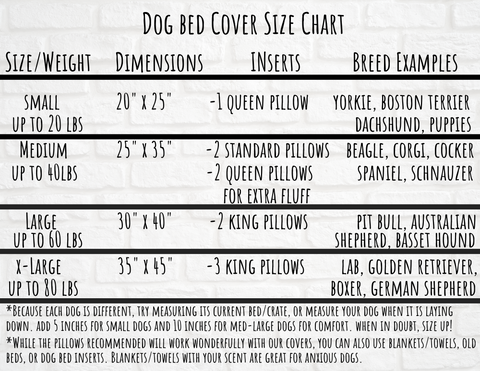 city dog treat bar dog bed cover size chart
