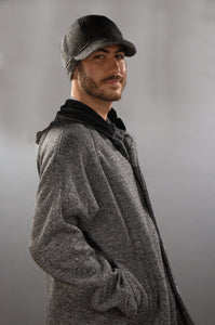 *Men's Salt & Pepper Wool & Fleece Cold Weather Carcoat