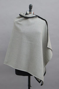 *Black/White Houndstooth Wool Blend Wrap  $175.00  (WR 0116F)