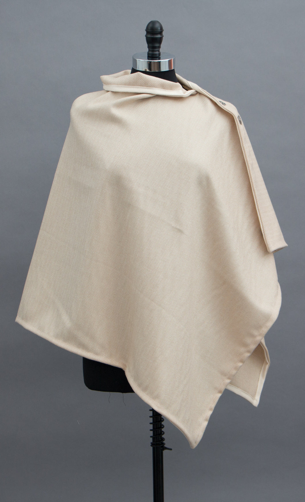 *Camel/White Chevron Wool Blend Wrap  $175.00  (WR 0116G)