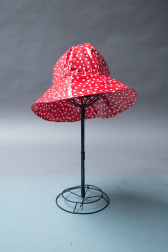 *Red Polkadot Unlined Rain Hat $45 (RH 0917A)