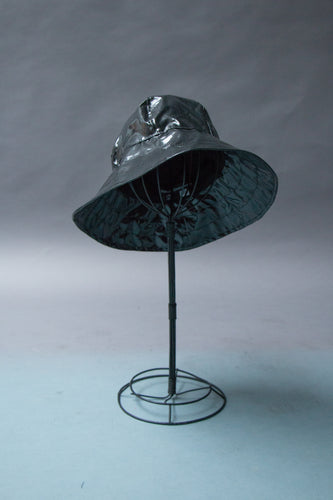 *Black Slicker Unlined Rain Hat $45 (RH 0917C)