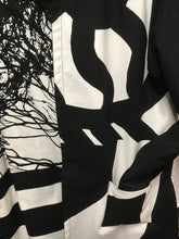 Load image into Gallery viewer, *Pieced Cotton in Black Reversible Coat