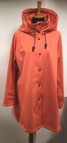 *Women's Coral Fleece Lined Snap Raincoat (SF0919A)