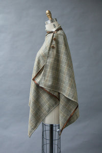 *Glen Plaid Wool Blend Wrap  $175.00  (WR 1016B)