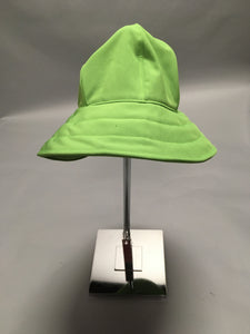 *Green Apple Waterproof Black Fleece Lined Rain Hat $50 (RH 0919C)
