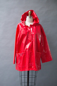 *Red Slicker Button Hoodie (RW 0917H)