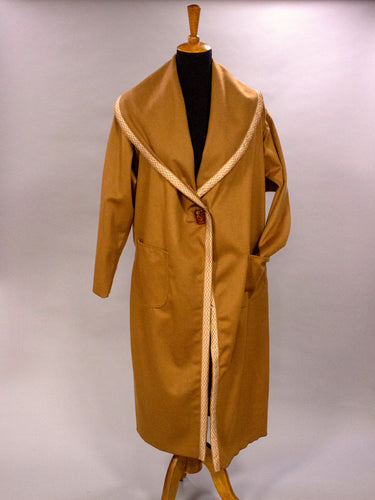 *Vintage Silk Trim on Caramel Cashmere Coat